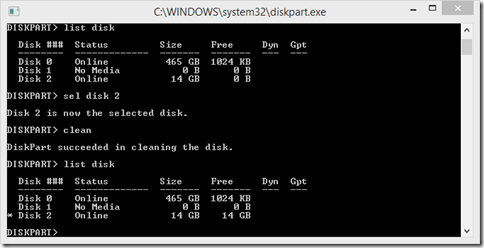 DiskPart Commands to Clean and Format a USB or fixed Disk