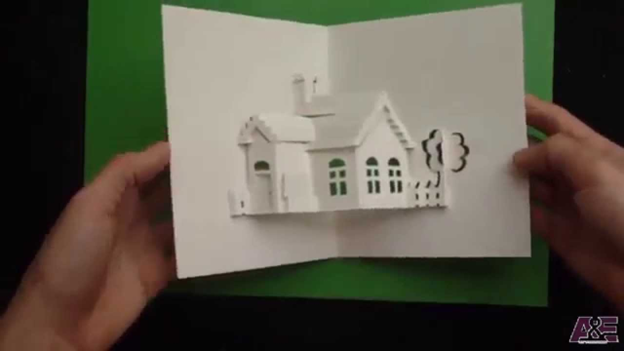 How To Make A House Pop Up Card Origamic Architecture