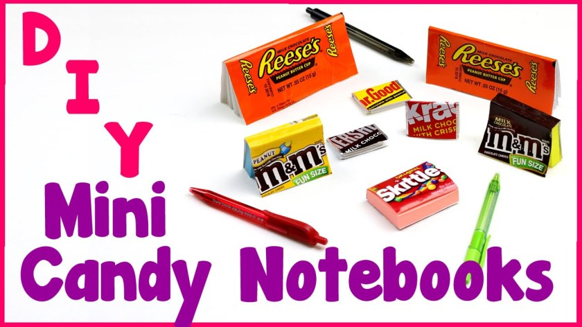 DIY Crafts: 7 Easy DIY Miniature Candy Notebooks - Cool & Unique Craft  Tutorial - Everything 4 Christmas