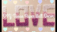 DIY | Easy Tissue Paper Wall Decor - Everything 4 Christmas