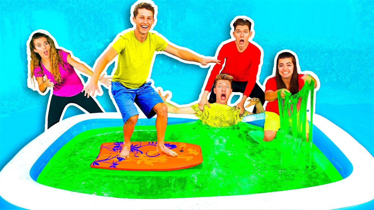 10000 POUNDS OF SLIME IN BATH CHALLENGE Everything 4