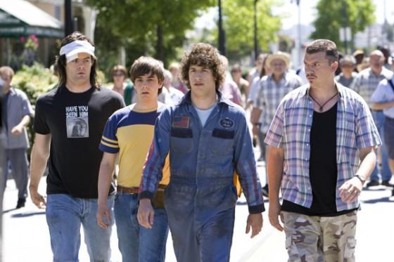 Andy Samberg, Danny McBride, Bill Hader and Jorma Hot Rod movie image