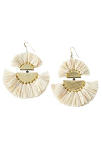 Roller Rabbit's Roller Rabbit Malisa Fringe Fan Earrings ...