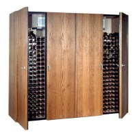 Vinotemp 1400-Model Wine Cabinet (Brushed Aluminum ...