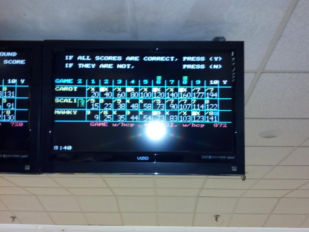 Jeff Walsh (Affectionately Known As Carrot In The Candlepin Bowling World)  Accomplished That This Past Tuesday In The Speed League At Academy;