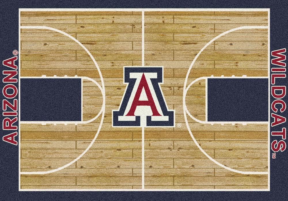Arizona Wildcats Basketball Home Court Nylon Area Rug