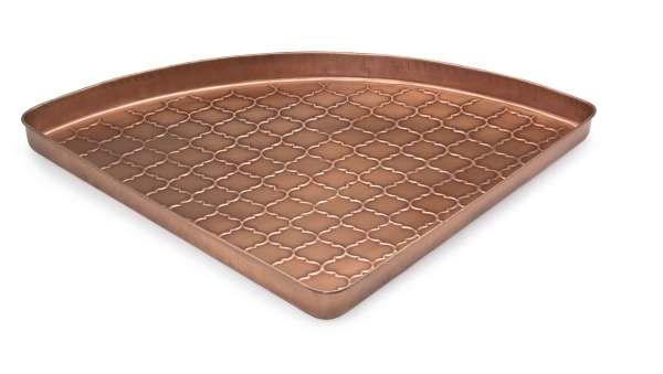 Embossed Barcelona Copper Corner Boot Tray - 22 X 31 2