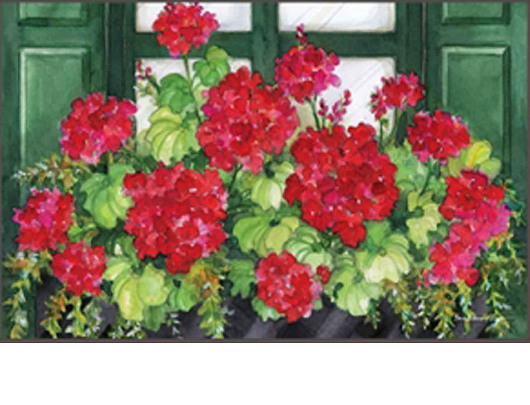 Indoor  Outdoor Window Box Geranium MatMate Doormat