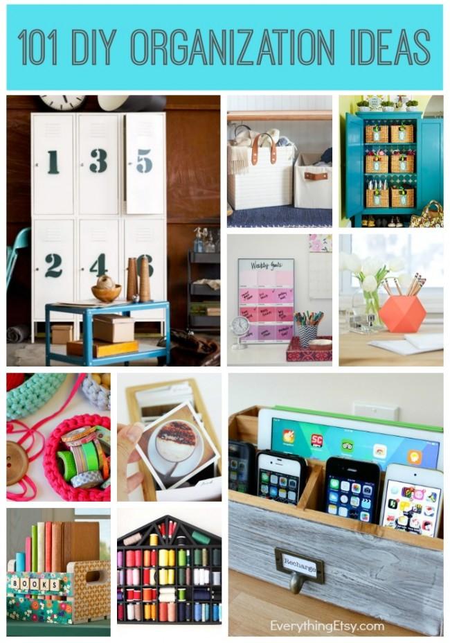 101 DIY Organization Ideas