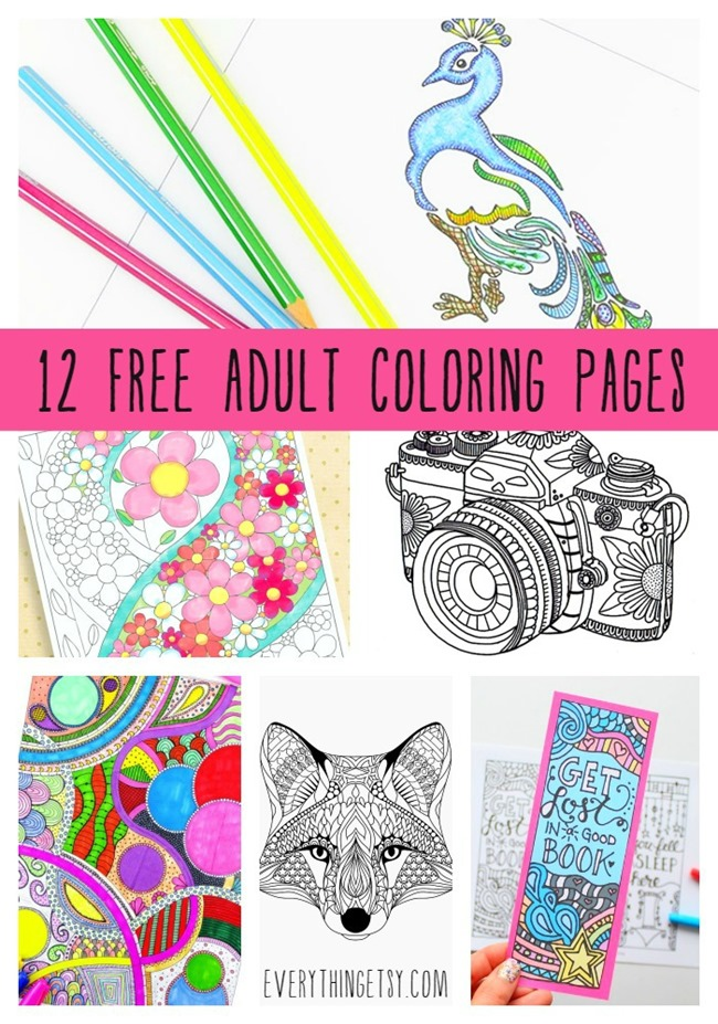 Printable Coloring Pages for Adults 15 Free Designs | free printable colouring pages for adults