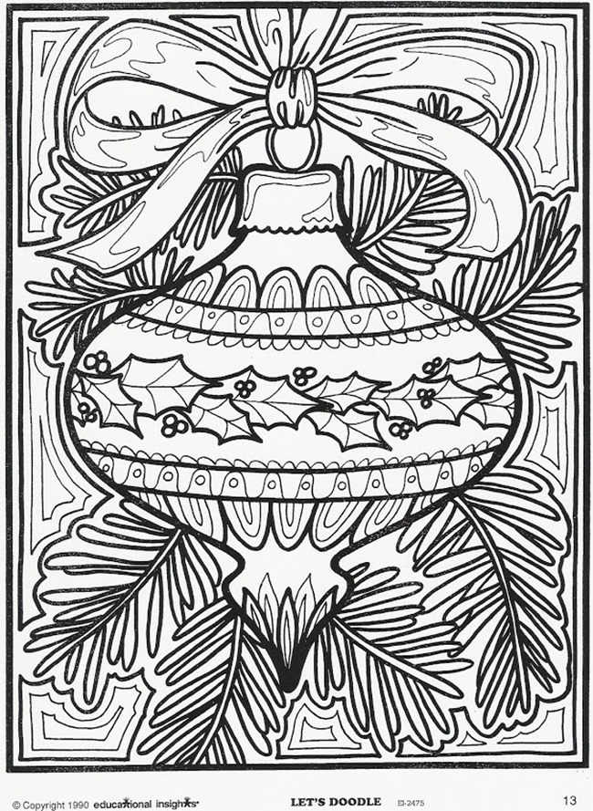 21 Christmas Printable Coloring Pages | free full size printable christmas coloring pages for adults