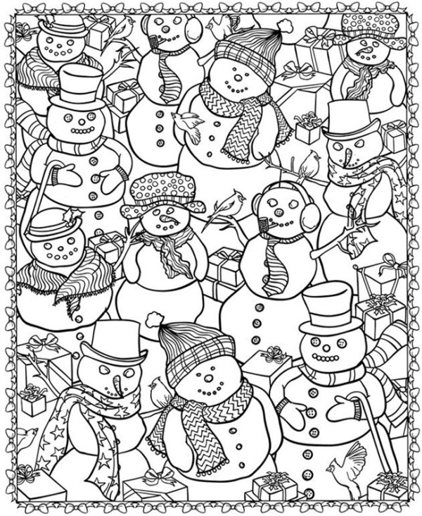 printable holiday coloring pages # 26
