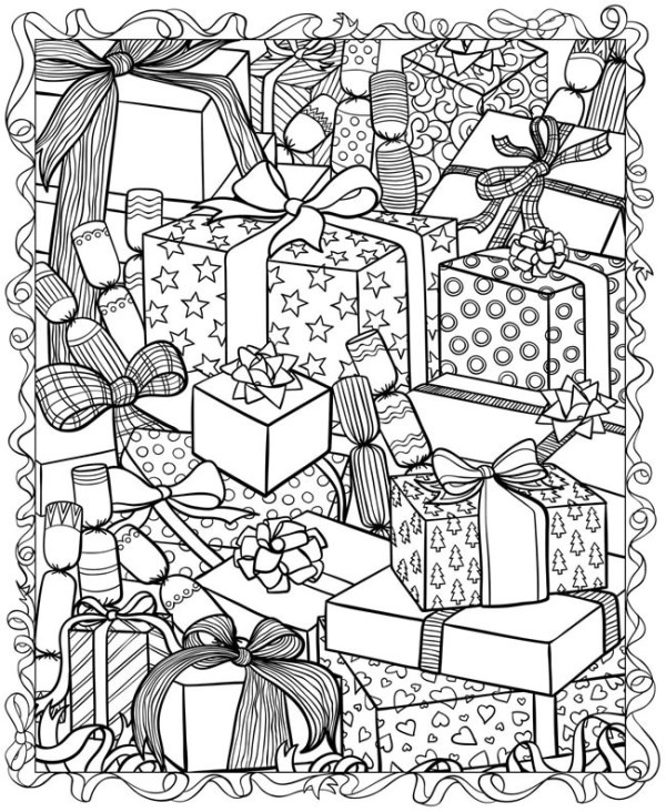 adult christmas coloring pages # 7