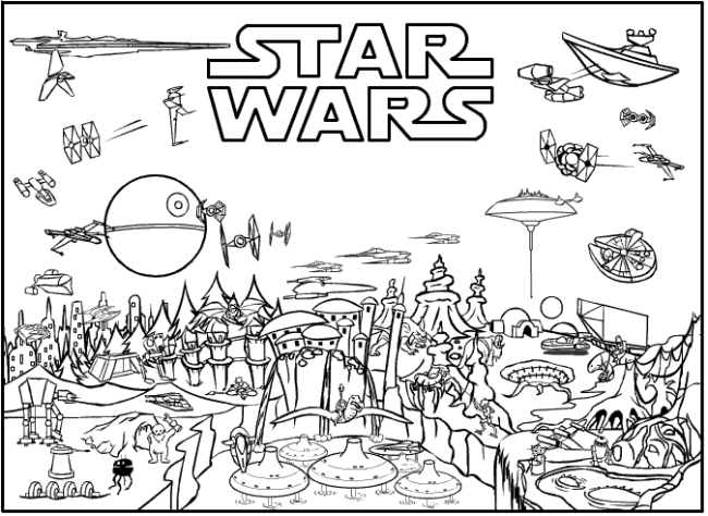 Star Wars Free Printable Coloring Pages for Adults & Kids