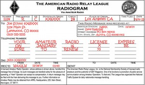 National Traffic System RadioGram