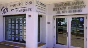 New everything ibiza properties office in the village centre of Sant Josep, Ibiza
