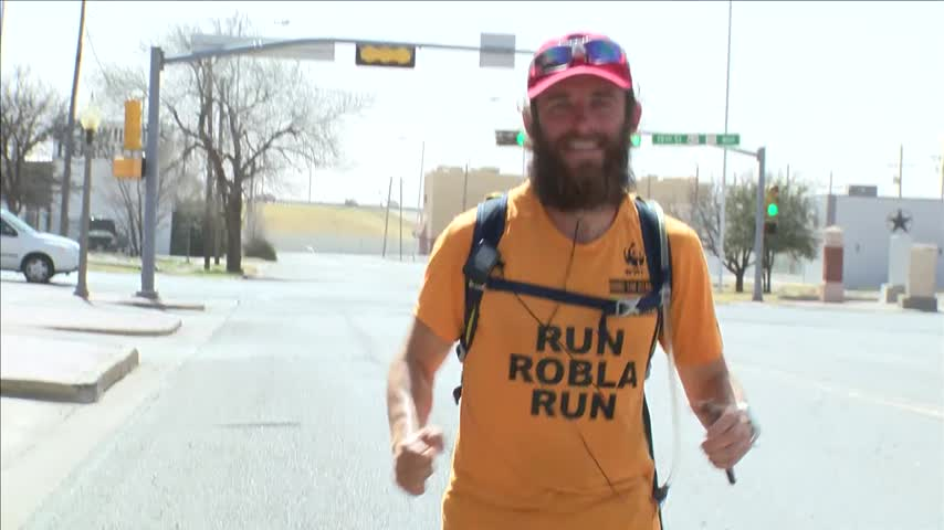 Man Runs Forrest Gumps- Cross Country Route_89974357
