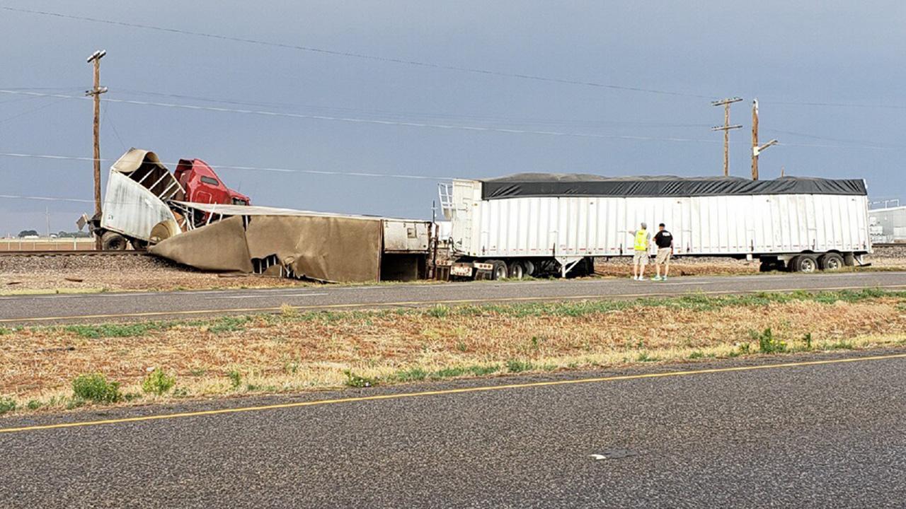 Two semi-trucks involved in crash along US-84
