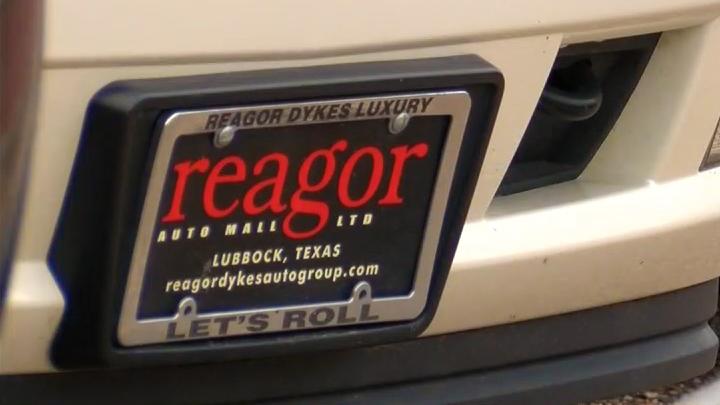 Reagor Dykes License plate 720