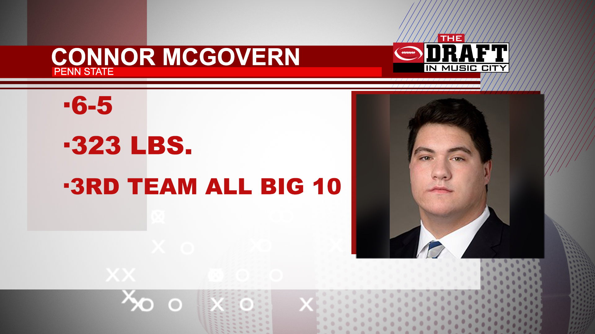 Connor McGovern Draft Music City