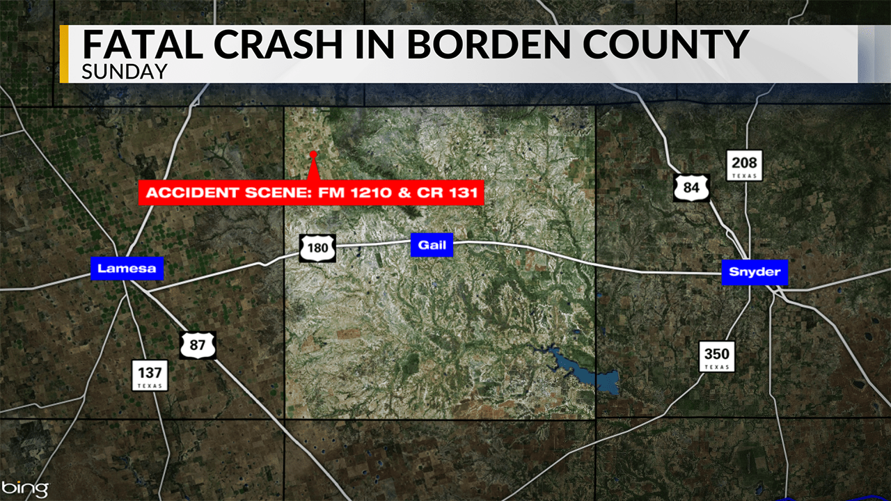2 dead, 3 injured in Borden County crash early Sunday afternoon