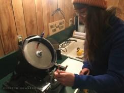 DIY Homemade Slanted Lapidary Grinding Wheel First Cut - NateBerends.com - 0106-47-171217