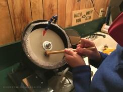 DIY Homemade Slanted Lapidary Grinding Wheel First Cut - NateBerends.com - 0111-53-171217