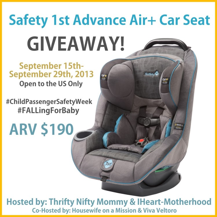 Safety 1st Advance Air Car Seat Giveaway Ends 9 29