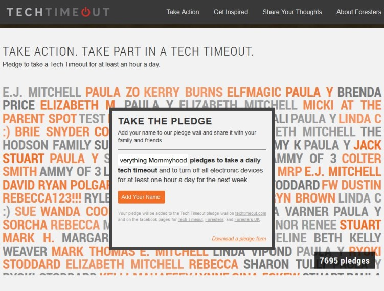 TechTimeOutPledge