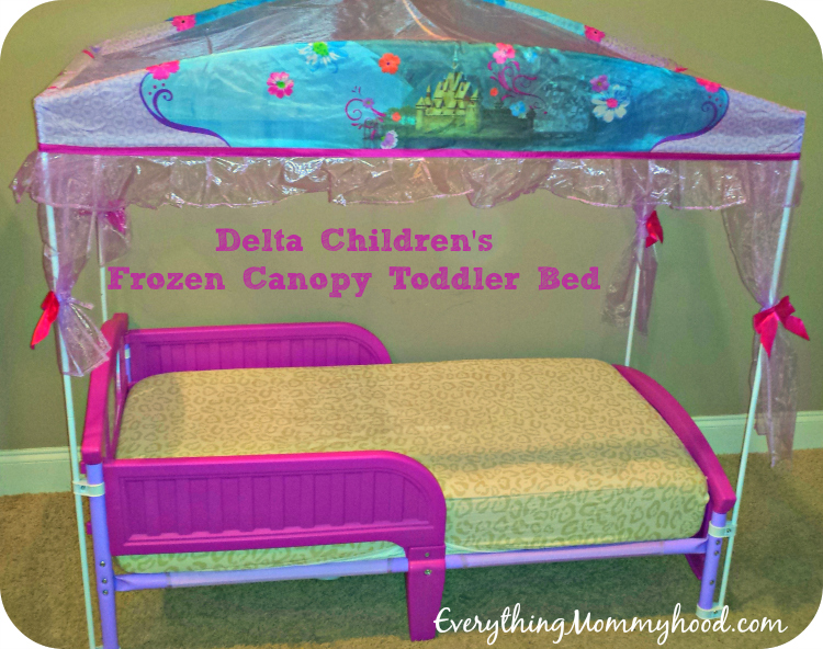 As with any larger piece of furniture you know you have your work cut out for you and with this toddler bed it was no exception. & Delta Childrenu0027s Frozen Upholstered Chair u0026 Frozen Toddler Canopy ...