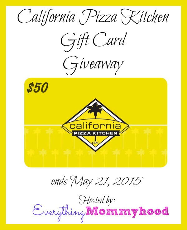 California Pizza Kitchen Gift Card | California Pizza Kitchen Cpkdearmomsweeps 50 Gift Card Giveaway