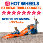 Step 2 Hot Wheels Extreme Thrill Coaster Giveaway – ends 3/2
