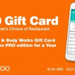 Calroo App and $150 Giveaway – Your Fave Restaurant, Bath & Body Works & more – ends 7/5/2017