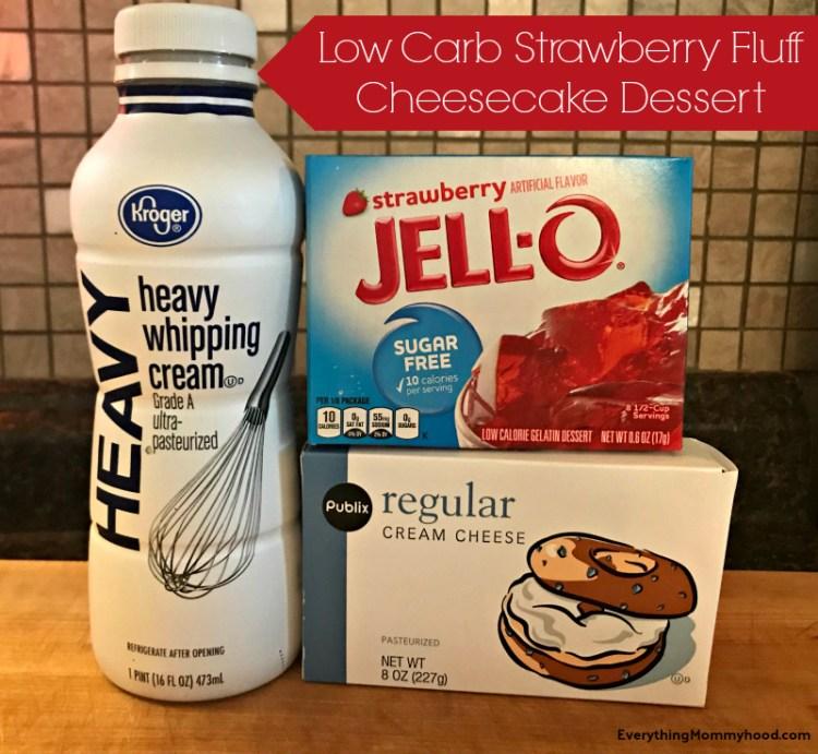 Recipe Low Carb Strawberry Fluff Cheesecake Dessert