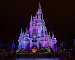 disneycinderellacastlelights