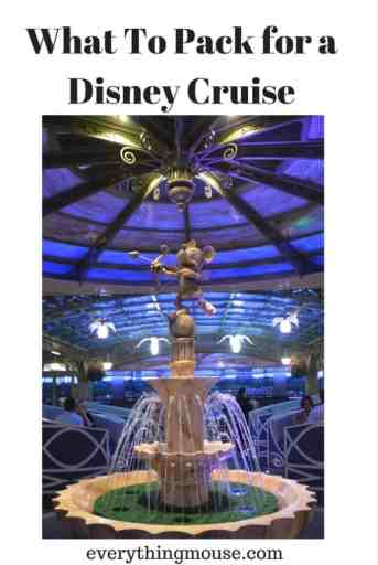 What To Pack for a Disney Cruise