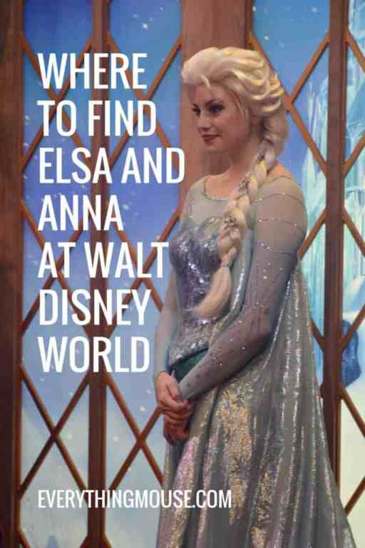 where to find elsa and anna at disney world