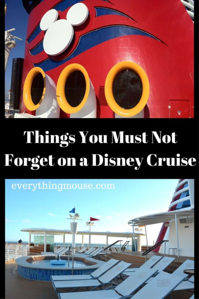 Things You Must Not Forget on a Disney Cruise