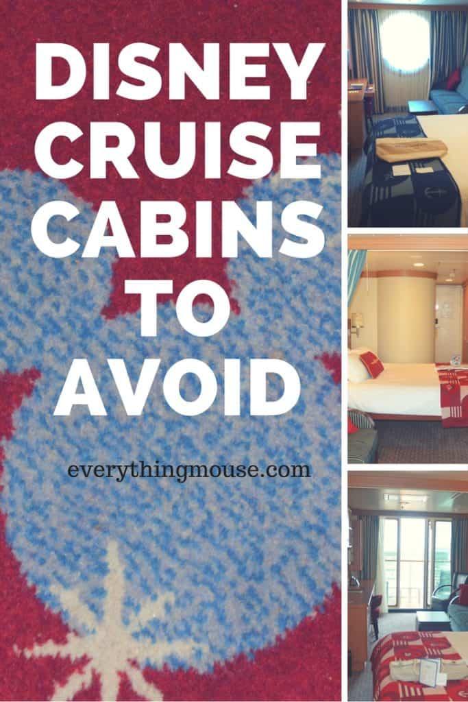disney cruise cabinsto avoid