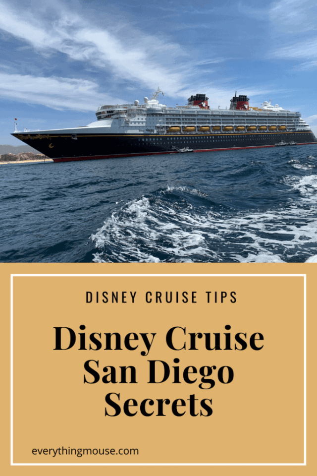 Disney Cruise San Diego Secrets
