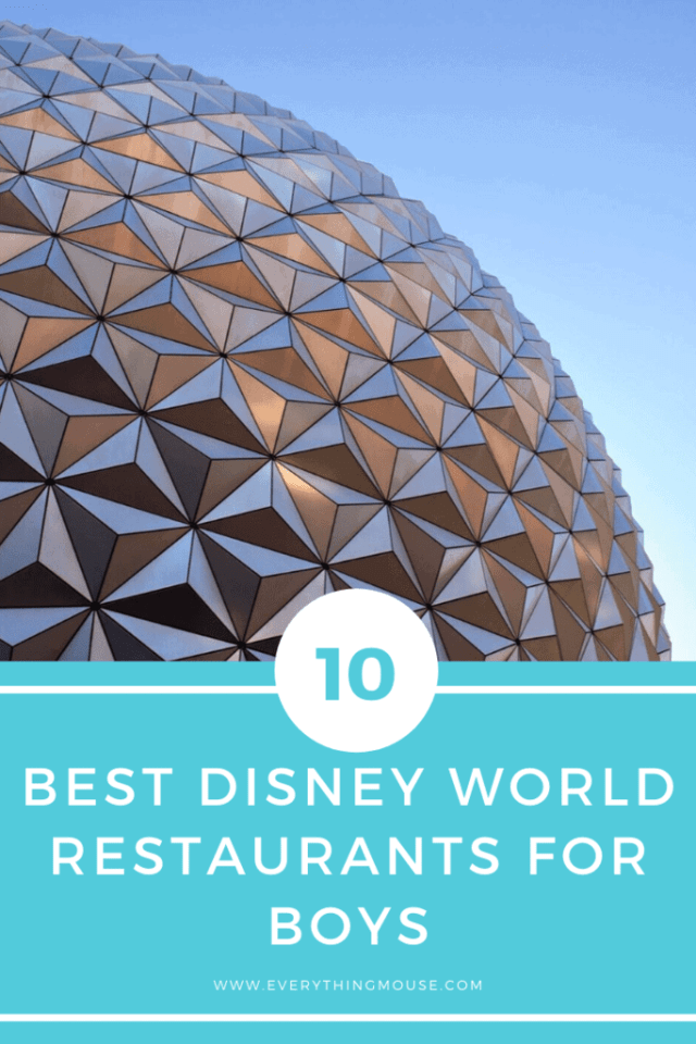 Best disney world restaurants for boys