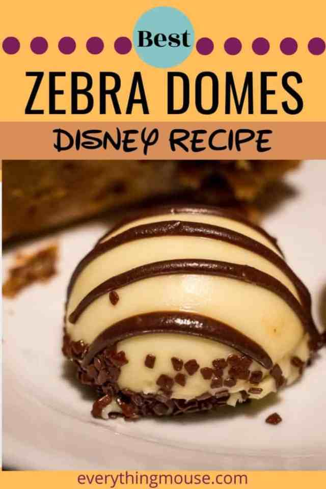 zebra domes Disney Recipes