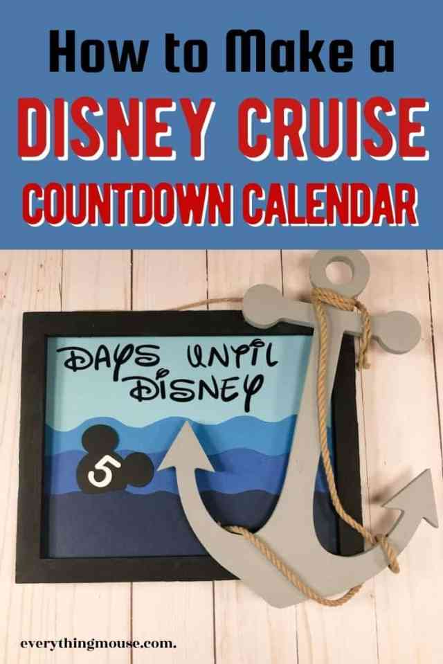 Disney Cruise Countdown Calendar DIY