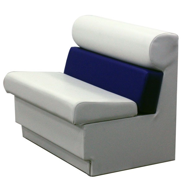 replacement captains chairs for boats folding chair covers at walmart pontoon premium 36 inch captain s seat style bench perspective view
