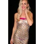 Silver Tube Dress W/ Metallic Bra & Thong