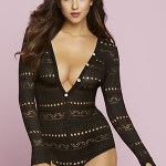 Knitted V Front Teddy