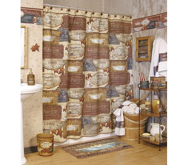 learn how country shower curtains can