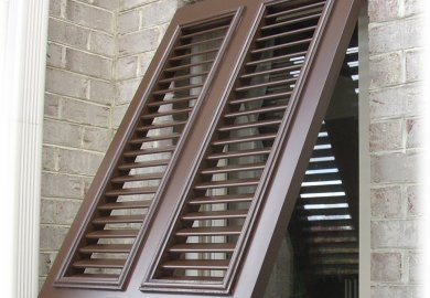 Exterior Windows With Shutters