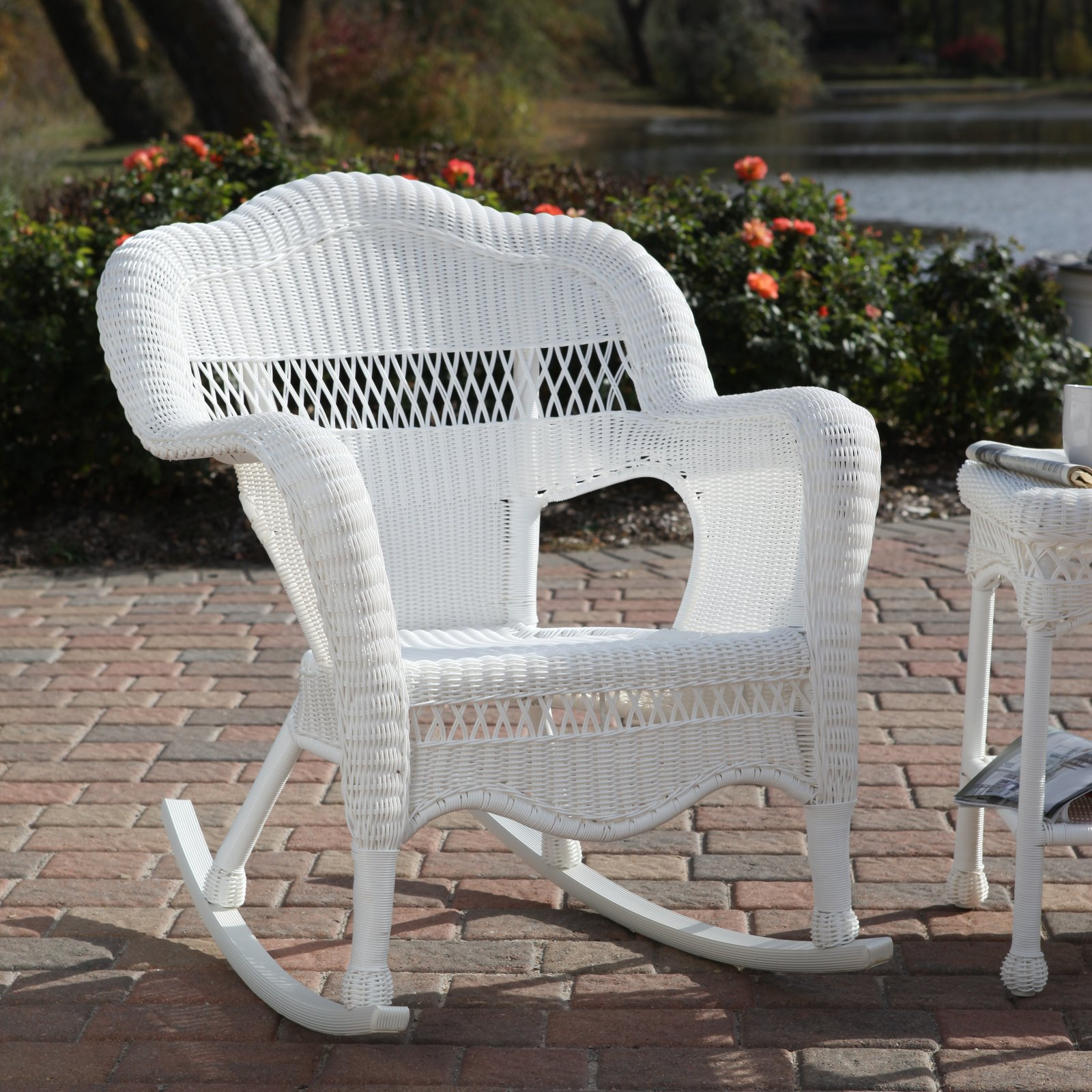white resin wicker sofa how to repair sagging cushions rocking chairs