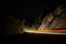 Spearfish Canyon vehicle lights